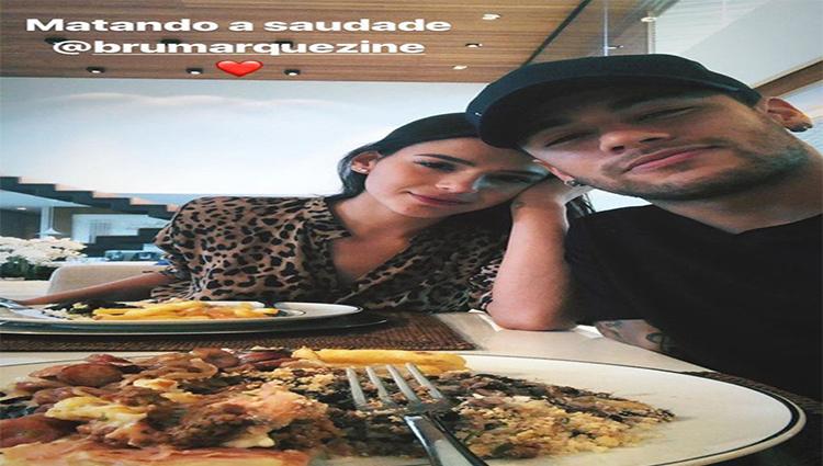 """Neymar recebe Bruna Marquezine em sua mansão: """"matando a saudade"""""""